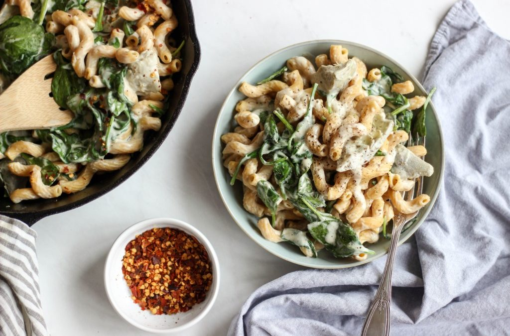 Cavatappi with Roasted Garlic Cashew Cream